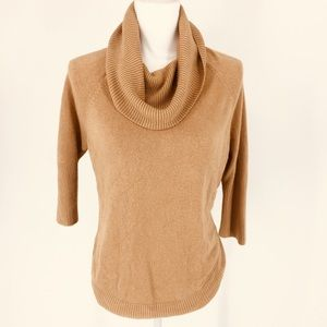 Roz & Ali Camel Brown Cowl Neck Sweater